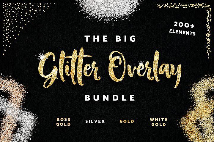 Glitter Photo Overlay Frames Borders