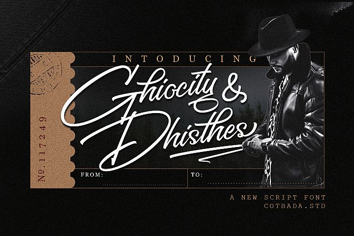 Ghiocity and Dhisthes Font Script