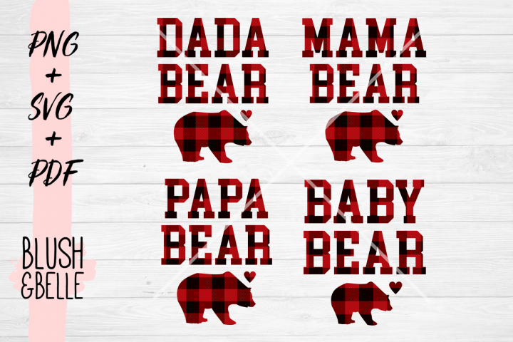 Family Bears Bundle - PNG, SVG, PDF