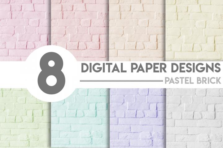 Pastel Brick Digital Paper Bundle
