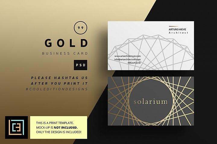 Gold Business Card - BC099