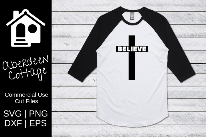 Believe Large Cross Cutout Design
