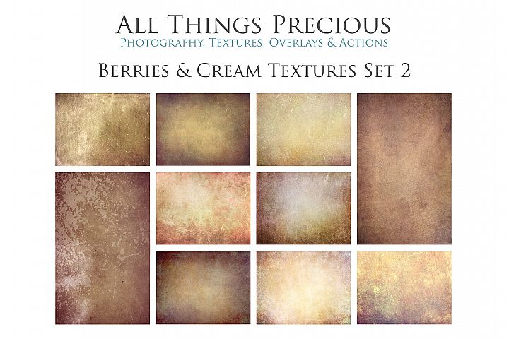 10 Fine Art BERRIES & CREAM Textures SET 2