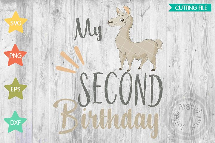 Llama birthday, Girl birthday, 2nd Birthday SVG