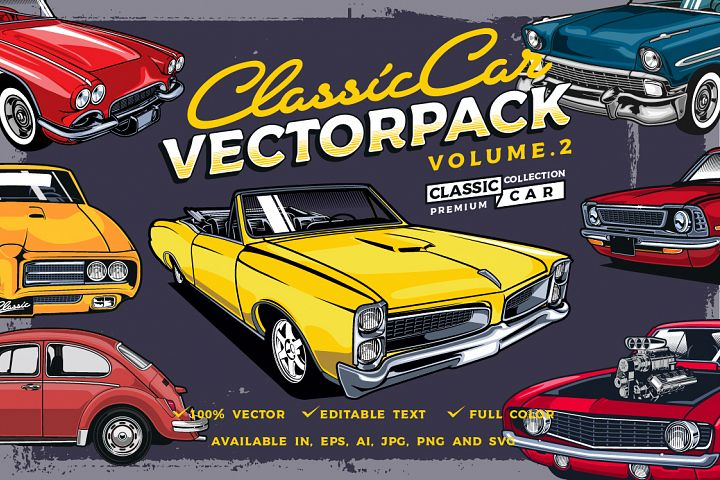Classic Car Vector Pack Volume 2