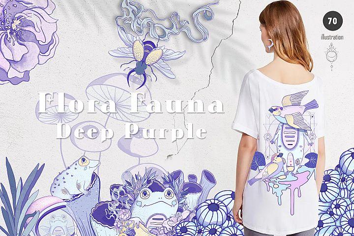 Deep Purple Flora & Fauna