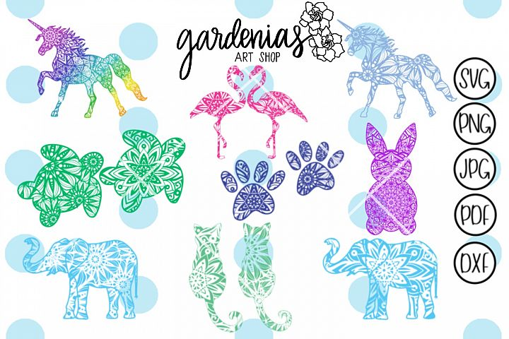 Animal Mandala Bundle SVG Cut File