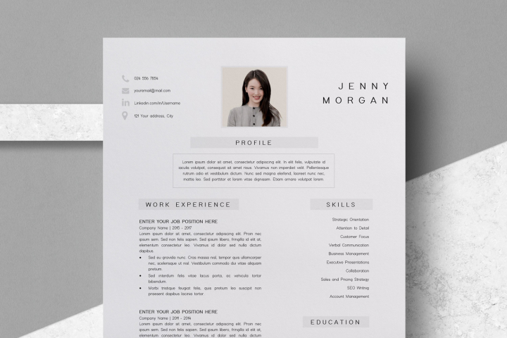 Resume Template | CV Template - Jenny Morgan