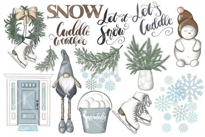 Cuddle Weather Clipart & Patterns