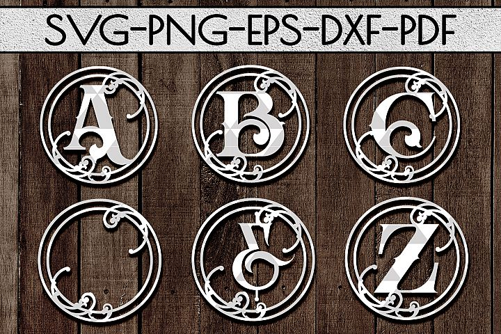 Vine Alphabet Papercut Bundle A-Z 26 And Ornaments SVG, PDF