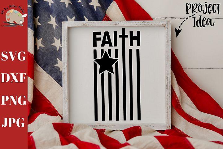 Faith Flag svg dxf png, Faith sign decal svg, christian svg
