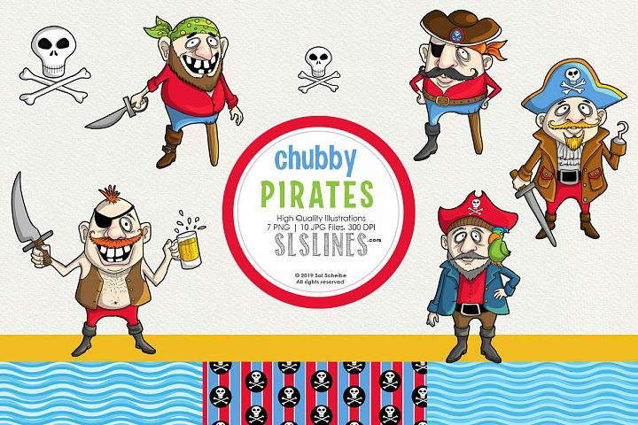 Chubby little pirates graphic set