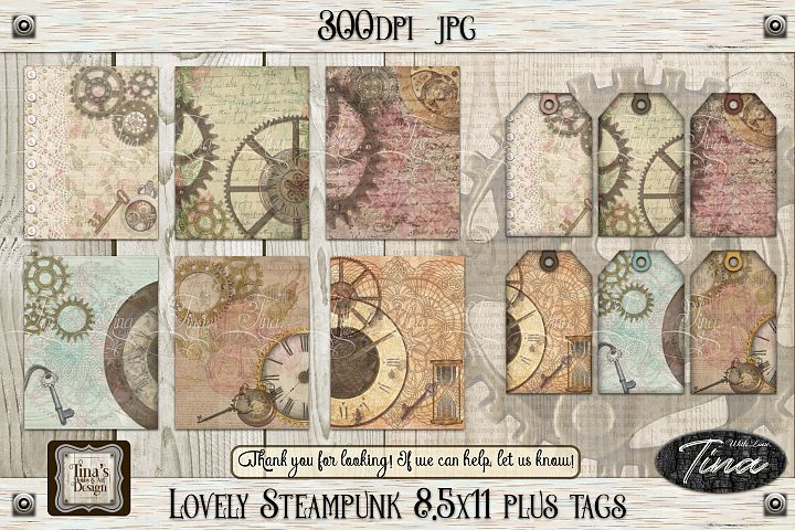 NEW Lovely Steampunk Designs, Tags & Bookmarks