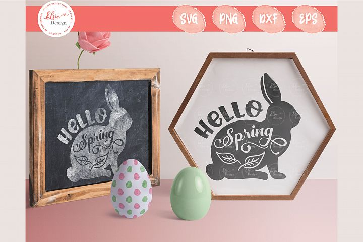 Hello Spring SVG Cut Files