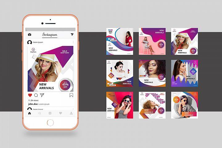 Instagram Promotional Banner Pack | Illustrator Template