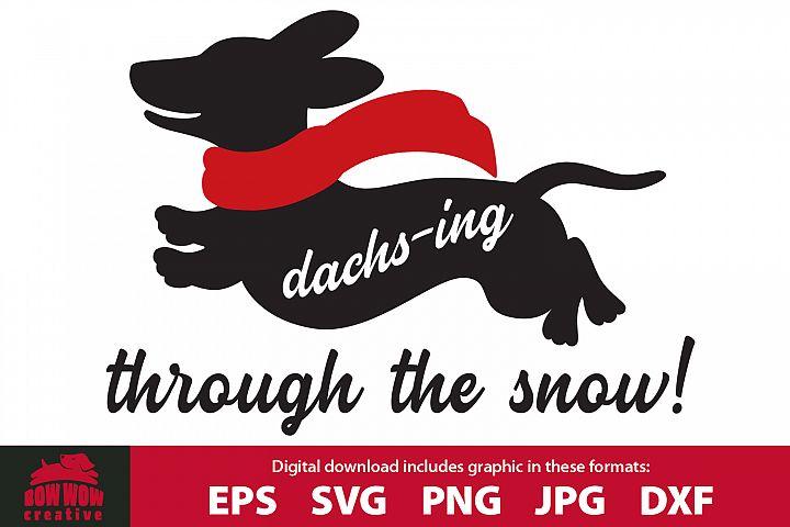 Dachs-ing Through the Snow Christmas Dachshund
