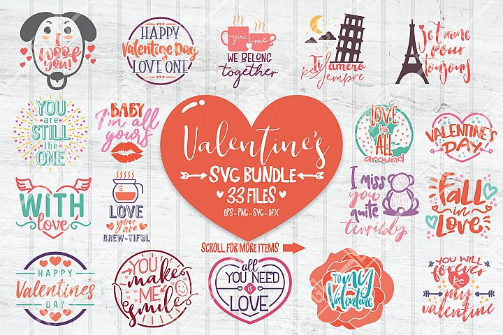 Valentine SVG Bundle-33 cute typography