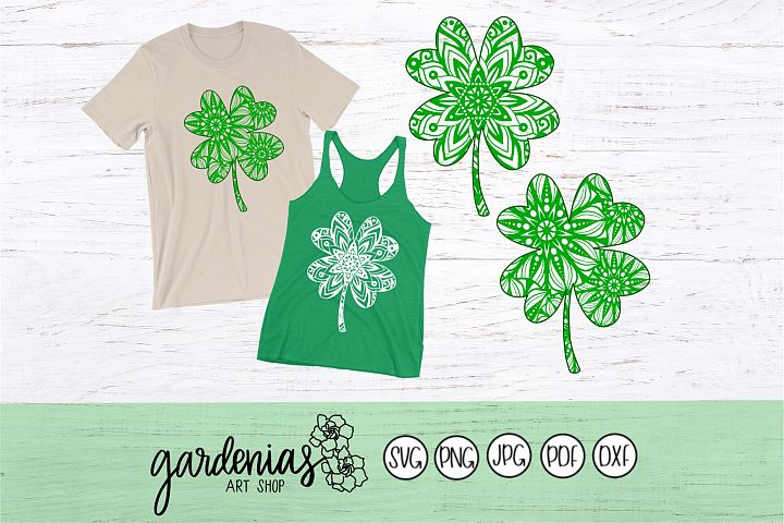 Shamrock Mandala Simple / Four Leaf Clover Mandala Simple
