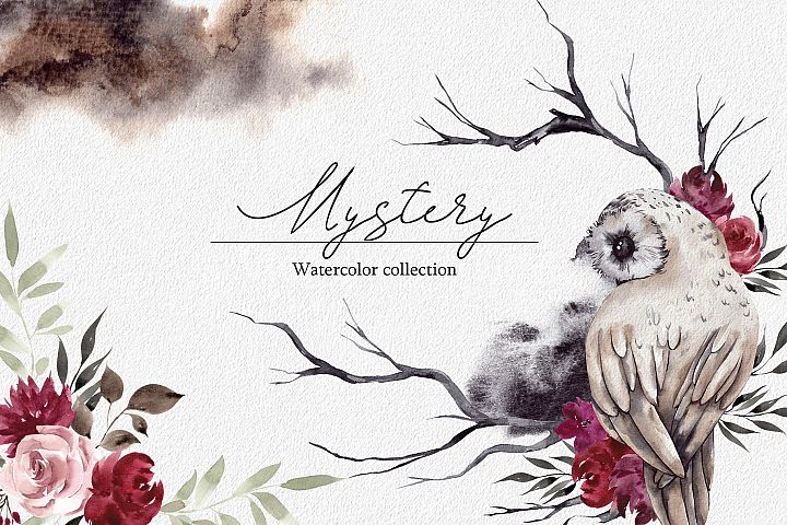 Mystery. Watercolor collections
