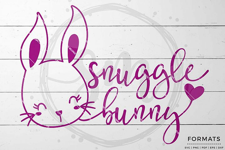 Snuggle Bunny Easter svg Files for Cricut