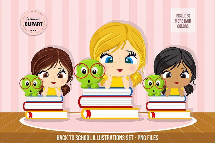 Back to school graphics, Back to school images, School girl