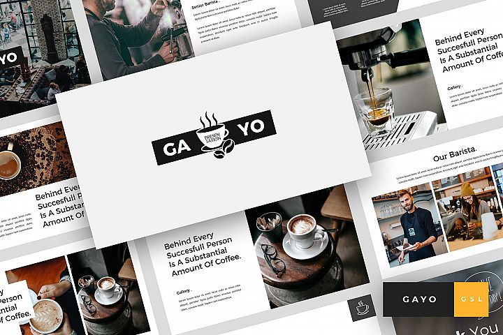 Gayo - Coffee Shop Google Slides Template