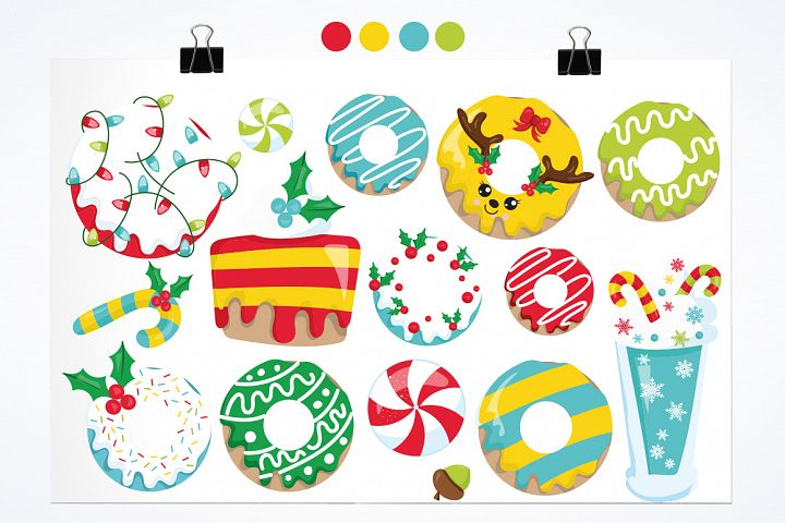 Christmas Cookies and Donuts graphics and illustrations example image 2