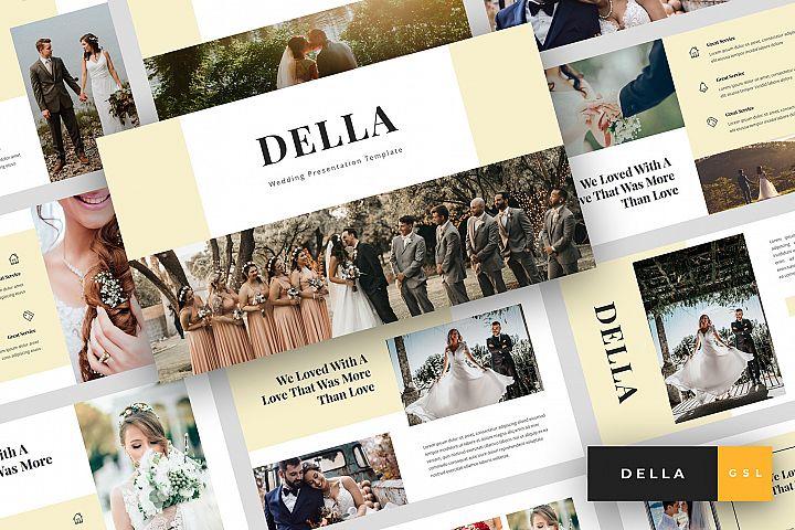 Della - Wedding Google Slides Template