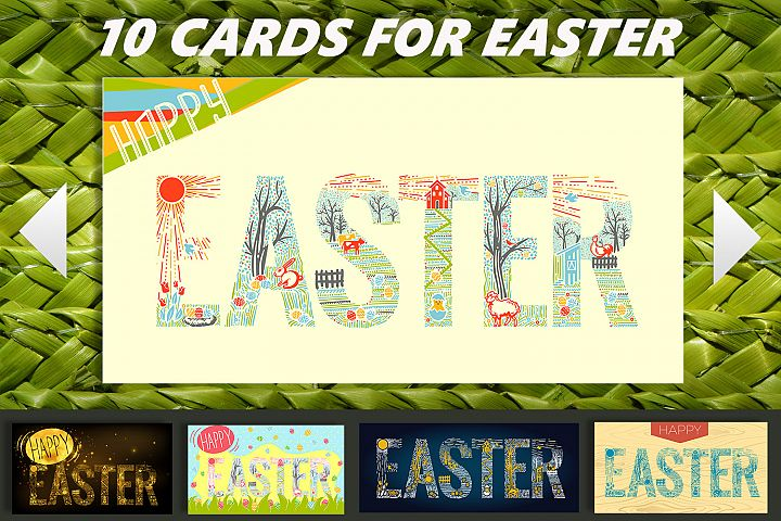 postcards with easter