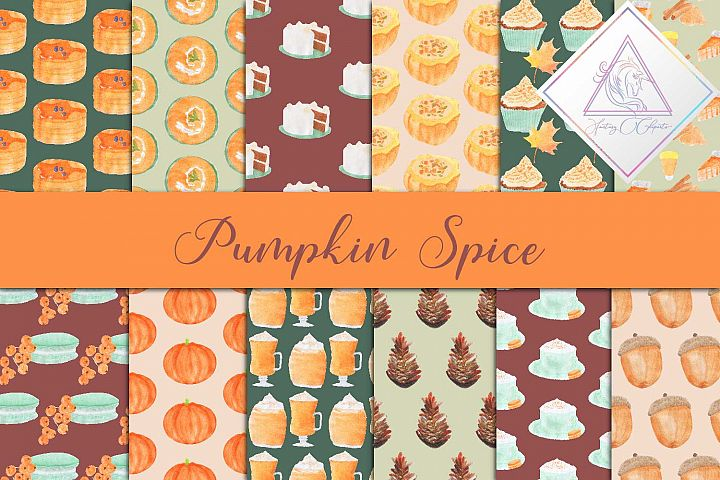 Pumpkin Spice Digital Paper