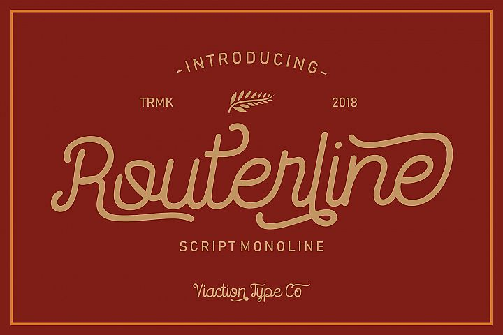 Routerline - 4 Style Font