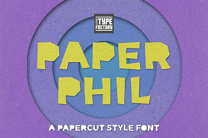 Paper Phil - a papercut craft style font