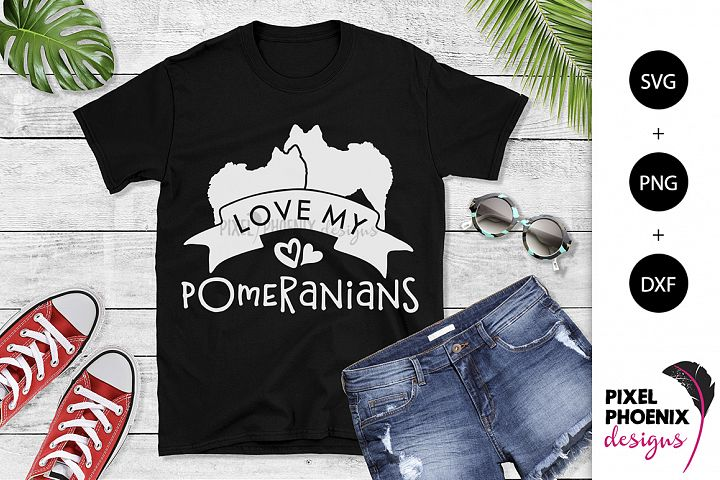 Love My Pomeranians SVG