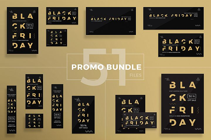 Black Friday Sale Design Templates Bundle