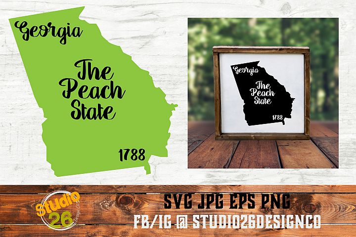 Georgia - State Nickname & EST Year - 2 Files - SVG PNG EPS