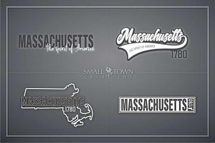 Massachusetts, Spirit of America, Logo, PRINT, CUT & DESIGN
