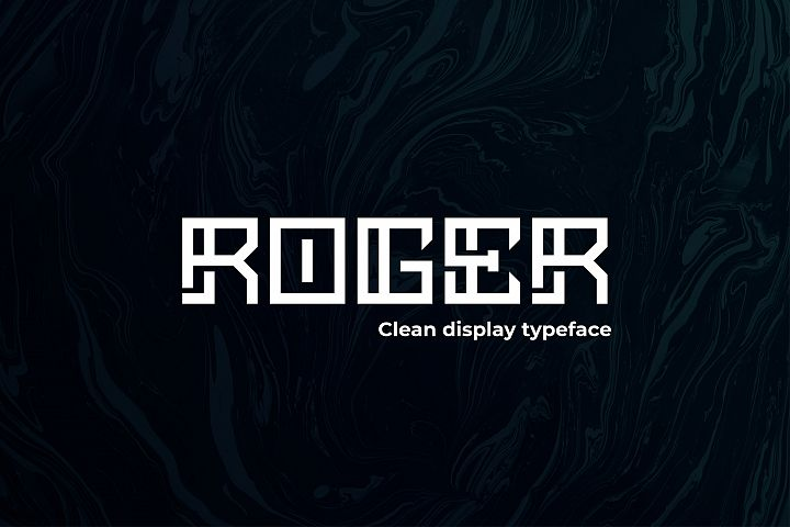 ROGER - Display typeface