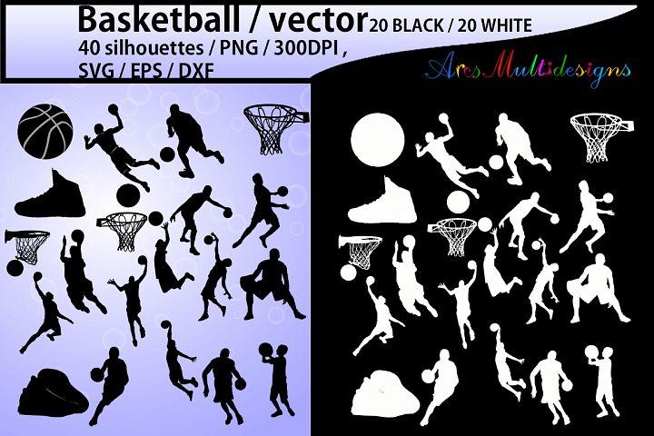 basketball svg / basketball silhouette / basketball players silhouette / HQ / baseketball SVG file / vector basketball / Eps / Dxf / Png