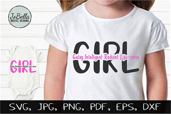 Girl Power SVG, Printable and Sublimation Design