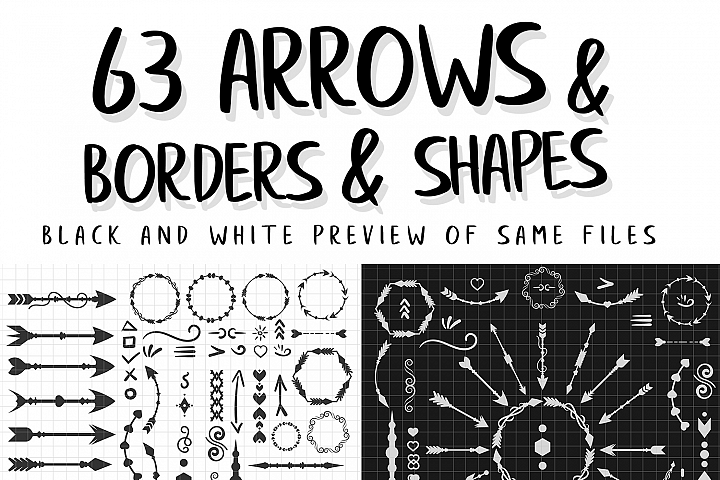 Arrows, Borders and Shapes Pack Volume-1