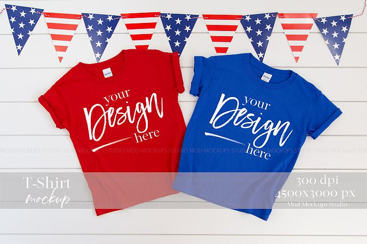 4TH of July Mock up T-Shirt| GILDAN Mockup 5000B