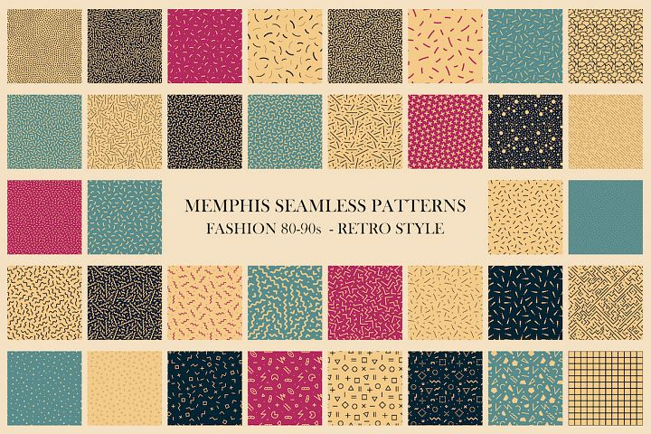 Trendy seamless abstract patterns