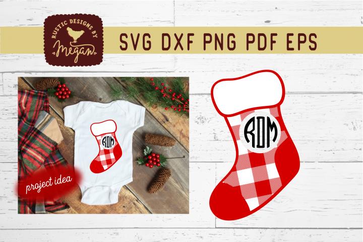 Stocking Monogram SVG Cut File
