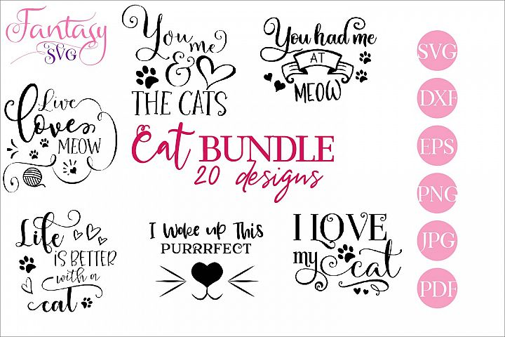 Cat BUNDLE - svg cut files