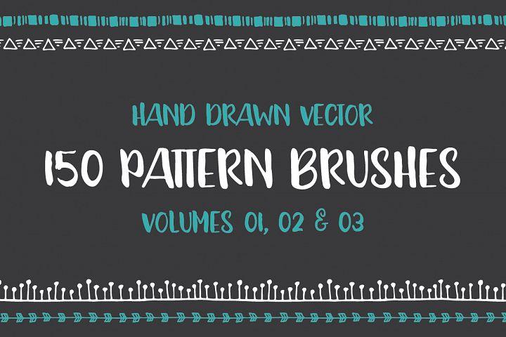 Hand Drawn Pattern Brushes Bundle - Volumes 01, 02 & 03