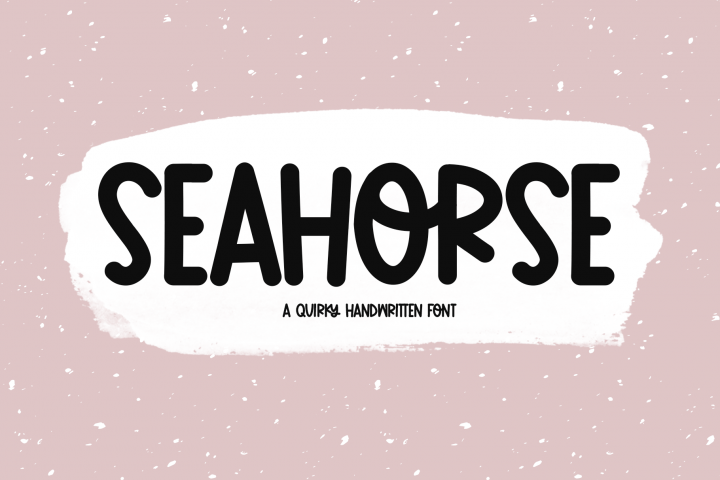 Seahorse - A Fun & Quirky Handwritten Font