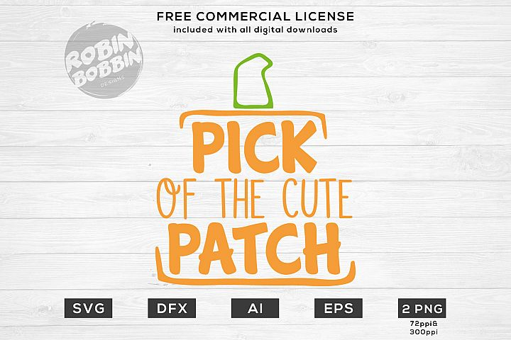 Pick Of The Cute Patch - Autumn SVG File