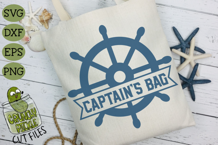 Captains Bag Ship Wheel SVG for DIY Beach Bags & Boat Totes