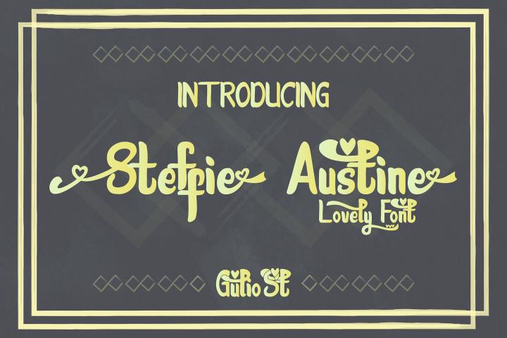 Steffie Austin Lovely Font