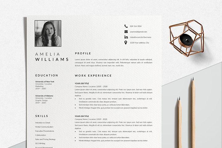 Modern Resume Template Word   CV Format Template Word